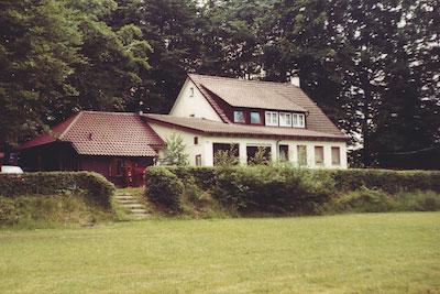 Waldheimgaststätte 1973 (Ansicht vom Sportplatz aus)