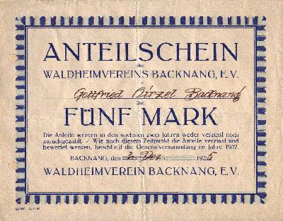 WaldheimAnteilsschein